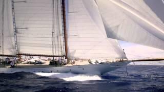 Classic yacht Elena sails into history.