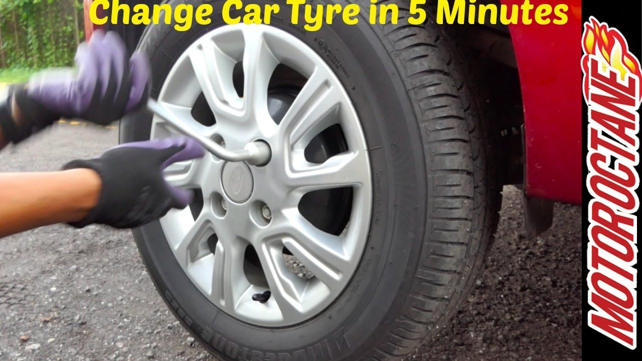 Motoroctane Youtube Video - Change tyre in 5 minutes - 5 ???? ??? ???? ????? | Without getting tired | Motor Octane