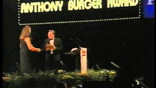 Roger Bennett winning the Anthony Burger Award.1999