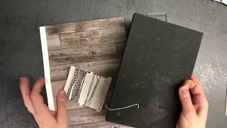 A5 boekje maken met papier en draad.