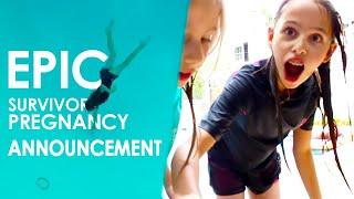 BEST SURVIVOR PREGNANCY ANNOUNCEMENT EVER!! | Scott and Camber