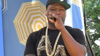 "50 Cent and Joe Performing "" Big Rich Town"" in Central Park on Good Morning America"