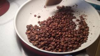 Pan Roasting Kona Coffee For Espresso