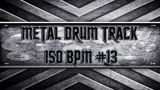 Modern Southern Metal Drum Track 150 BPM (HQ,HD)