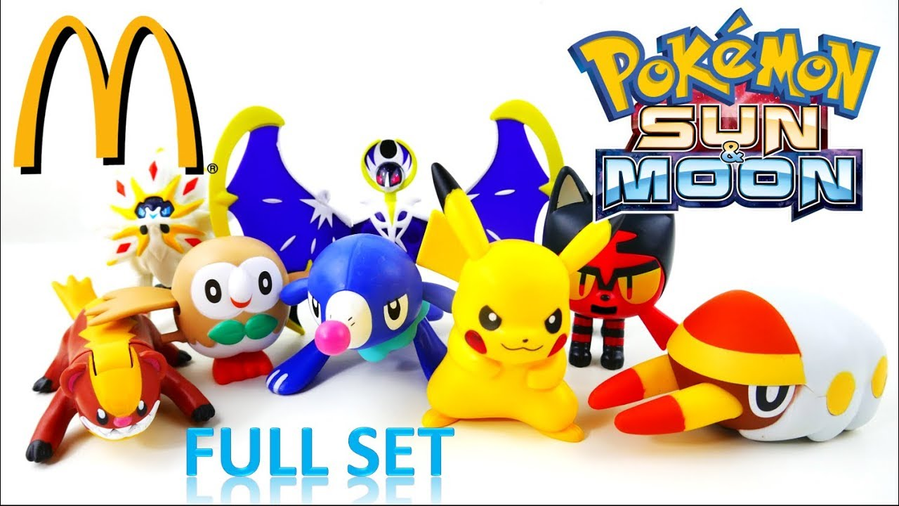 McDonalds Pokemon Sun and Moon 2017 Happy Meal Toys FULL SET | Evies Toy House