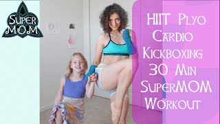 30 Min HIIT Cardio Kickboxing Workout w/ SuperMOM - HASfit Cardio Workouts Exercises by HASfit