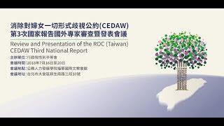 20180716消除對婦女一切形式歧視公約(CEDAW)第3次國家報告國外專家審查暨發表會議