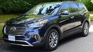 2017 Hyundai Santa Fe XL Review--NEW LOOK AND TECH