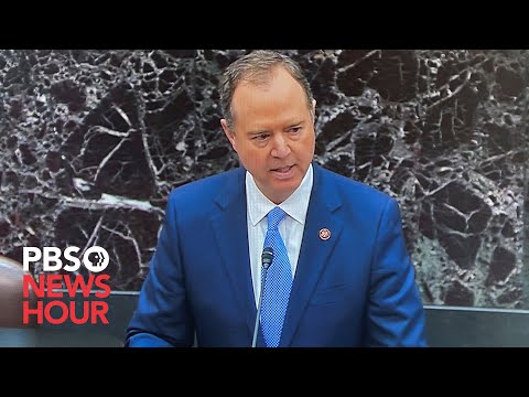 WATCH: House manager Rep. Adam Schiff reads articles of impeachment on Senate floor