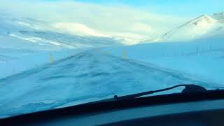 Driving in windy conditions Iceland