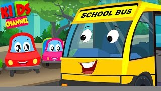 Little Red Car | Colors Cars Song | Nursery Rhymes Videos by Kids Channel