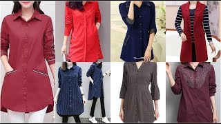 Most Unique & Trending Fashion Ideas For Pleated Kurti Neck Sleeves & Daman Designs