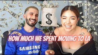 HOW MUCH MONEY WE SPENT MOVING TO LA + OUR TIPS