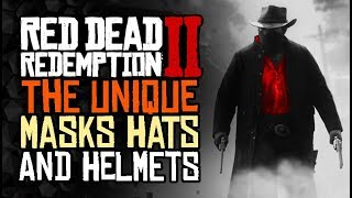 All of the UNIQUE Masks, Hats, And Helmets - Red Dead Redemption 2
