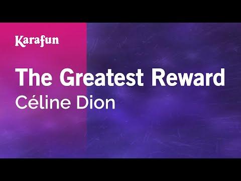 Karaoke The Greatest Reward - Céline Dion *