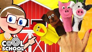 DIY Old MacDonald Finger Puppets 🖐🐓  Crafty Carol Crafts   Cool School