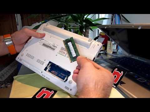 Samsung N150 Arbeitsspeicher aufrüsten und Festplatte tauschen