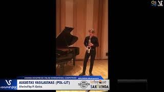 AUGUSTAS VASILAUSKAS plays Xiwind by P. Geiss #adolphesax