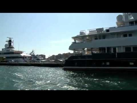 Super Yachts around Palma de Mallorca