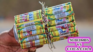 50 Bird Diwali Bombs Vs Coca Cola Can Did Crackers Destroys The Can See The Experiment