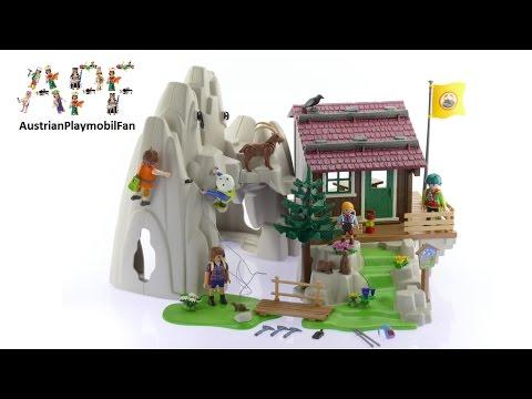 Vidéo PLAYMOBIL Action 9126 : Rocher d'escalade avec espace d'accueil
