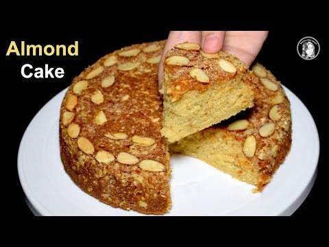 Video Almond Cake Recipe Without Oven - Dry Almond Cake - Tea Time Recipe by kitchen With Amna