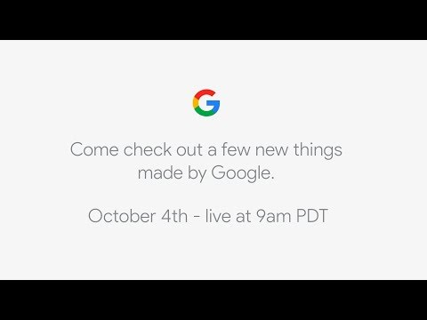 Watch Google's Big Pixel 2 Announcement Right Here