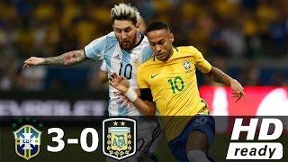 Neymar vs Messi • Argentina vs Brazil • Highlights