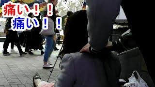 激痛の肩こり!【研修で肩が凝り始めているお姉さん】Free Massage PROJECT. Shibuya Station Square.