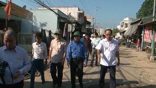 Bộ Tài nguyên và Môi trường khảo sát thực địa tìm giải pháp khắc phục thiên tai tại An Giang