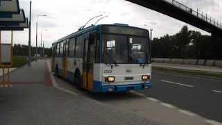 preview picture of video 'Ostrava: Odjezd trolejbusu Škoda 14Tr ev.č. 3253 ze zastávky Karolina U lávky'