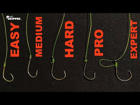 5 Levels of Knots for Hook Tying! (SIMPLE- EXPERT)
