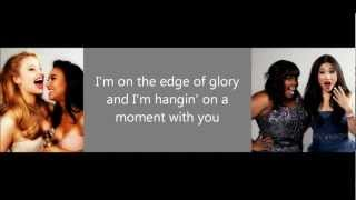 Glee- Edge of glory Lyrics