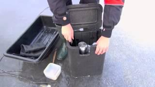 Зимний рыболовный ящик artekno repakki с ремнями
