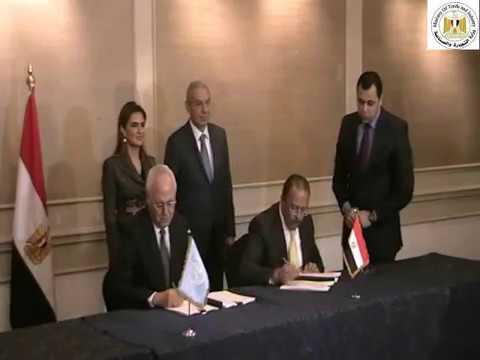 الوزير/طارق قابيل يشهد توقيع مذكرة تفاهم بين مركز تحديث الصناعة وبرنامج الامم المتحدة الانمائى