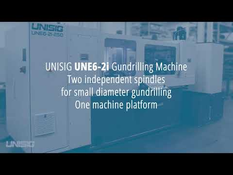 UNISIG UNE6-2i Gundrilling Machine | Independent Gundrill Spindles