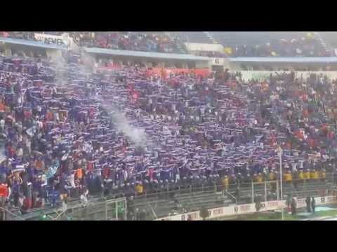 """""""Cruz Azul Vs. América 4-0 Apertura 2014 , Porra - Sangre Azul"""" Barra: La Sangre Azul • Club: Cruz Azul"""