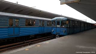 """Составы Еж3/Ем-508Т на станции """"Выхино"""""""