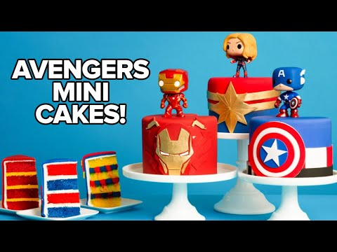Download Marvel Avengers Mini Cakes | Endgame Premiere Party | How To Cake It HD Mp4 3GP Video and MP3