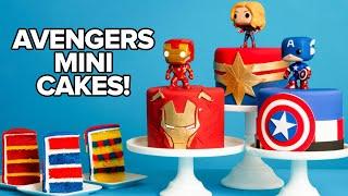 Marvel Avengers Mini Cakes | Endgame Premiere Party | How To Cake It