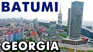 Смотреть онлайн Как выглядит Батуми (Грузия) с высоты птичьего полета