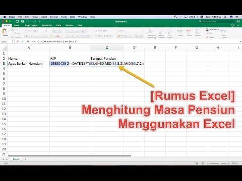 [Rumus Excel] Menghitung Masa Pensiun Menggunakan Excel