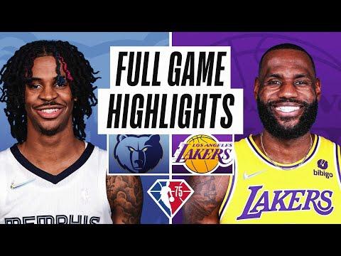Los Angeles Lakers vs Memphis Grizzlies</a> 2021-10-25