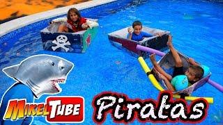 Fabrica un Barco Pirata de Carton resistente al Tiburon