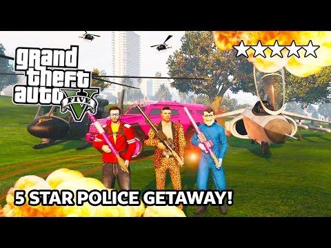 GTA 5 Online 5 STAR HEISTS Destruction! 5 Star POLICE Getaway in GTA Online! (GTA 5 PS4 Gameplay)