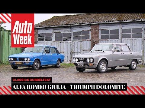 Alfa Romeo Giulia (1977) vs Triumph Dolomite (1980) - AutoWeek Classics - English subtitles