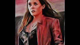 Drawing Elizabeth Olsen as The Scarlet Witch