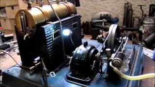Märklin 4097/6 Model steam engine with new parts and generator