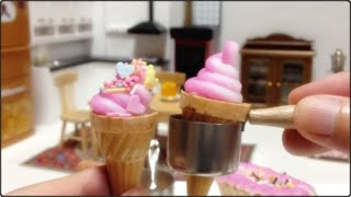 Miniature Food#42 Ice cream & Cupcake(Candy powder) - Cooking