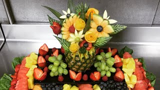 Banquet Display Tray Ideas, Fruit Carvings, Room Amenity Plates